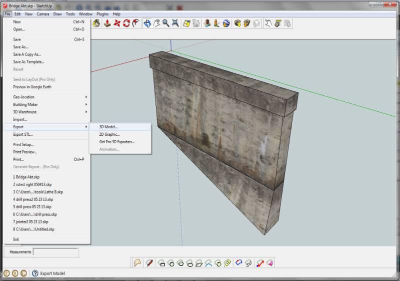 Export model as DEA file